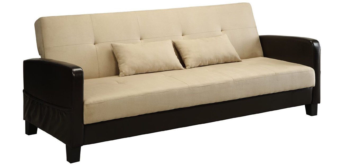 Sleeper Sofa - DHP Vienna Sofa Sleeper with 2 Pillows