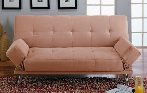 Sleeper Sofa - Tan Microfiber Sofa Bed