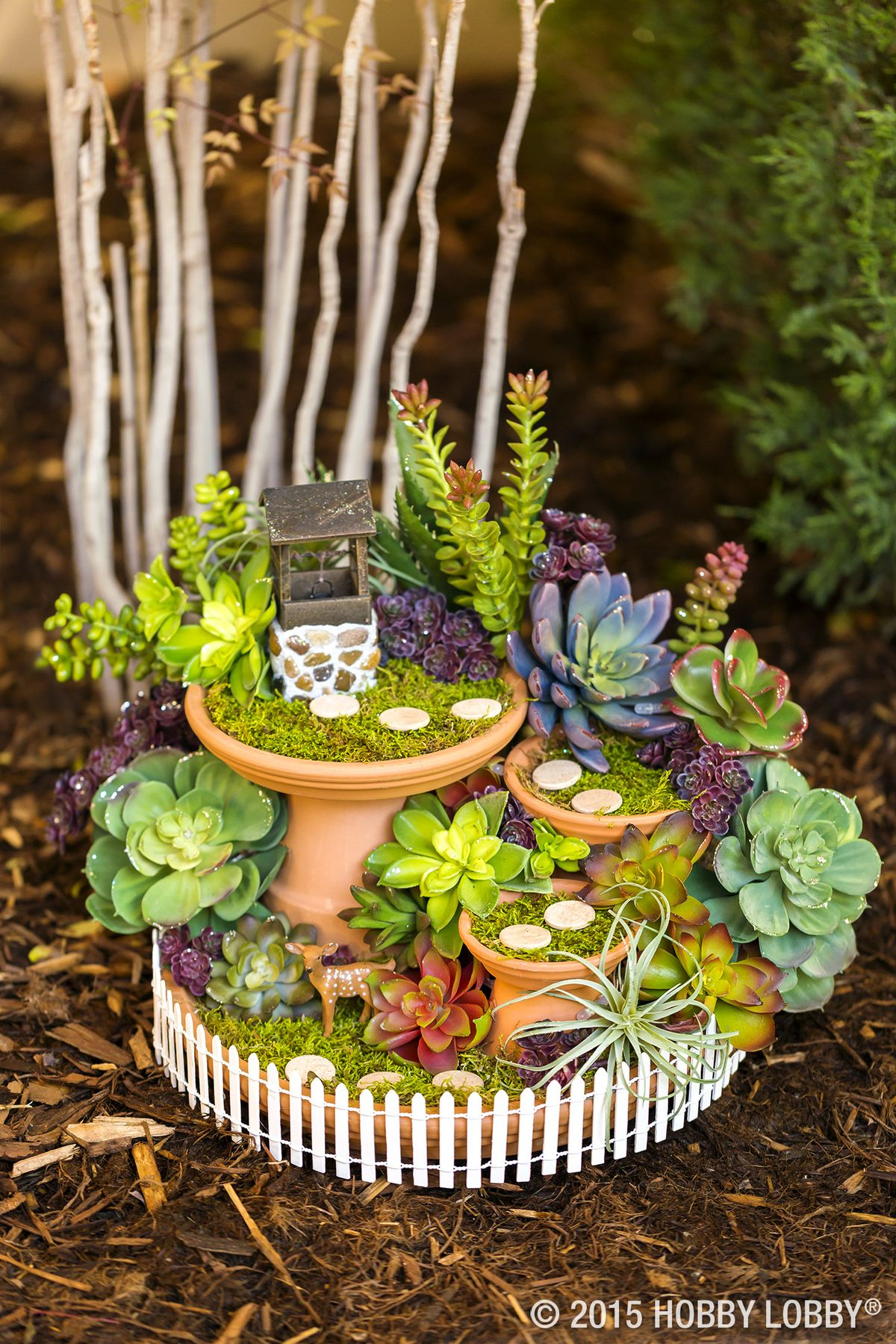 Garden designs with bridges and wishing wells landscaping ideas - A Quiet Diy Fairy Garden Wishing Well