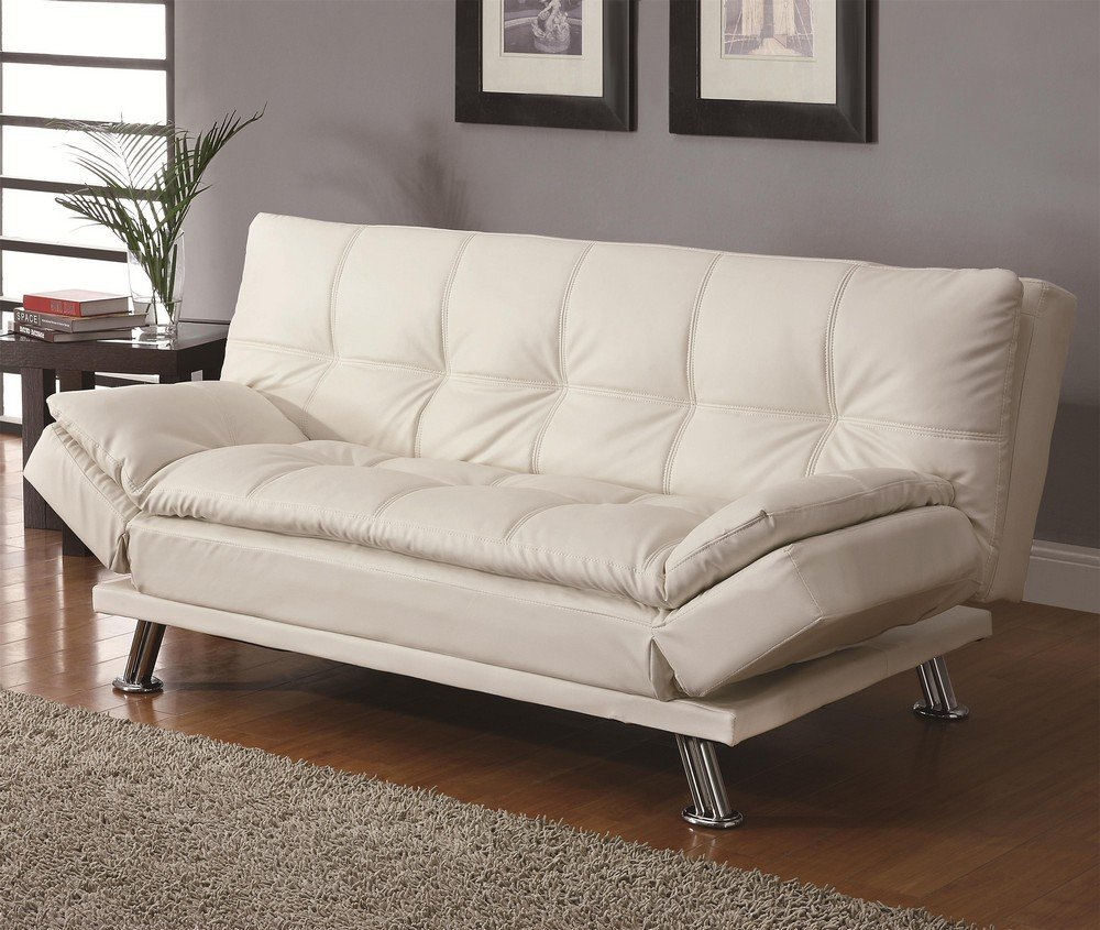 best sleeper sofa beds to buy in  - sleeper sofa  coaster sofa bed in white