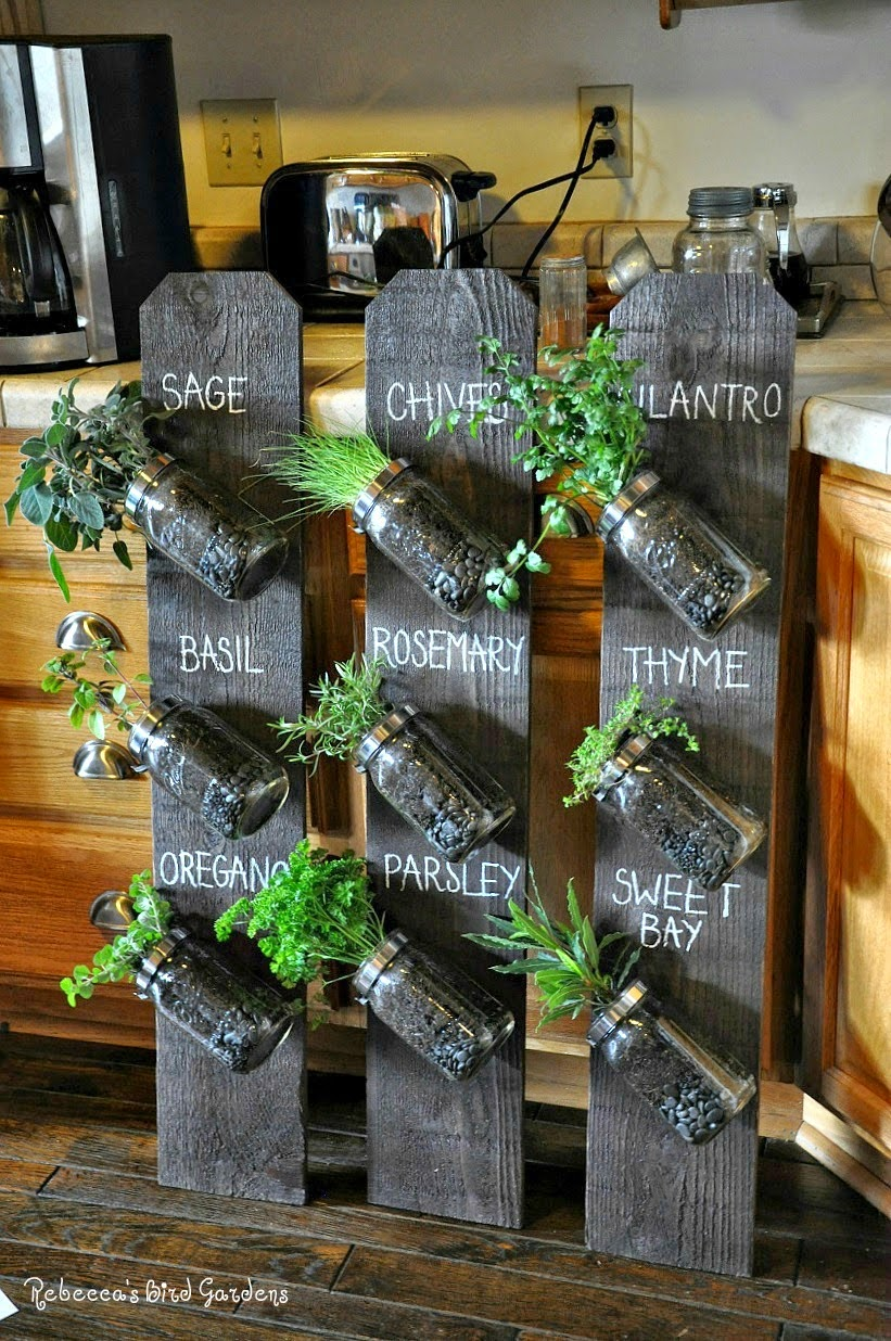 Vertical Gardening Ideas 27 tower garden ideas for your homestead 12 An Unusual Twist On Kitchen Spice Jars