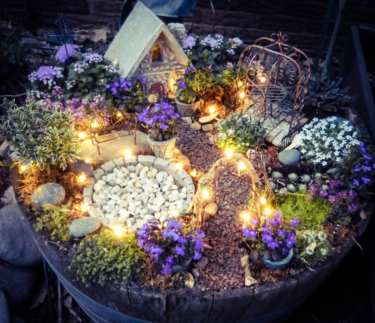 12 some enchanted evening - Fairy Garden Design Ideas