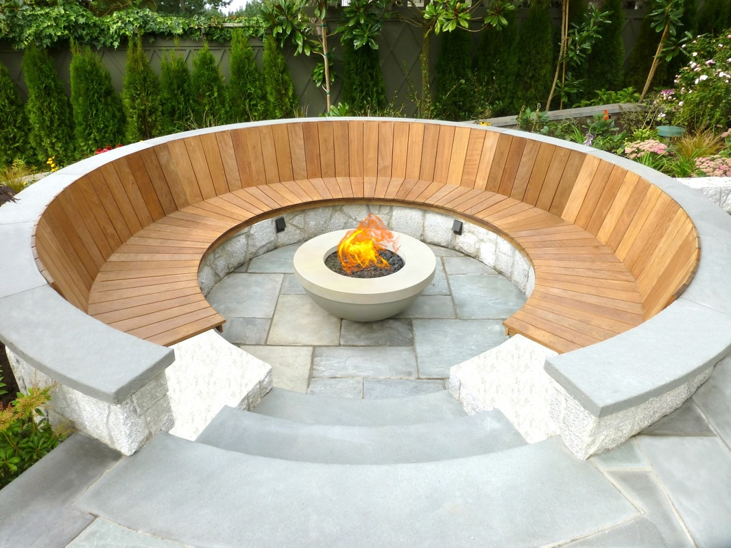 50 best outdoor fire pit design ideas for 2017 Round wooden stepping stones
