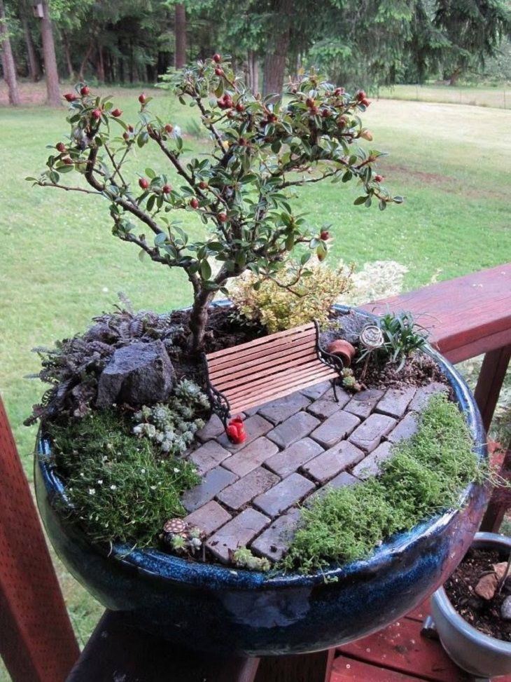the 50 best diy miniature fairy garden ideas in 2018. Black Bedroom Furniture Sets. Home Design Ideas