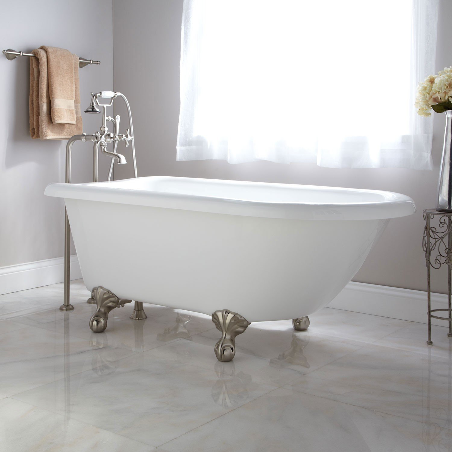 55 inch clawfoot tub. Naiture Acrylic Clawfoot Tub From SH 20 Best Small Bathtubs To Buy In 2018