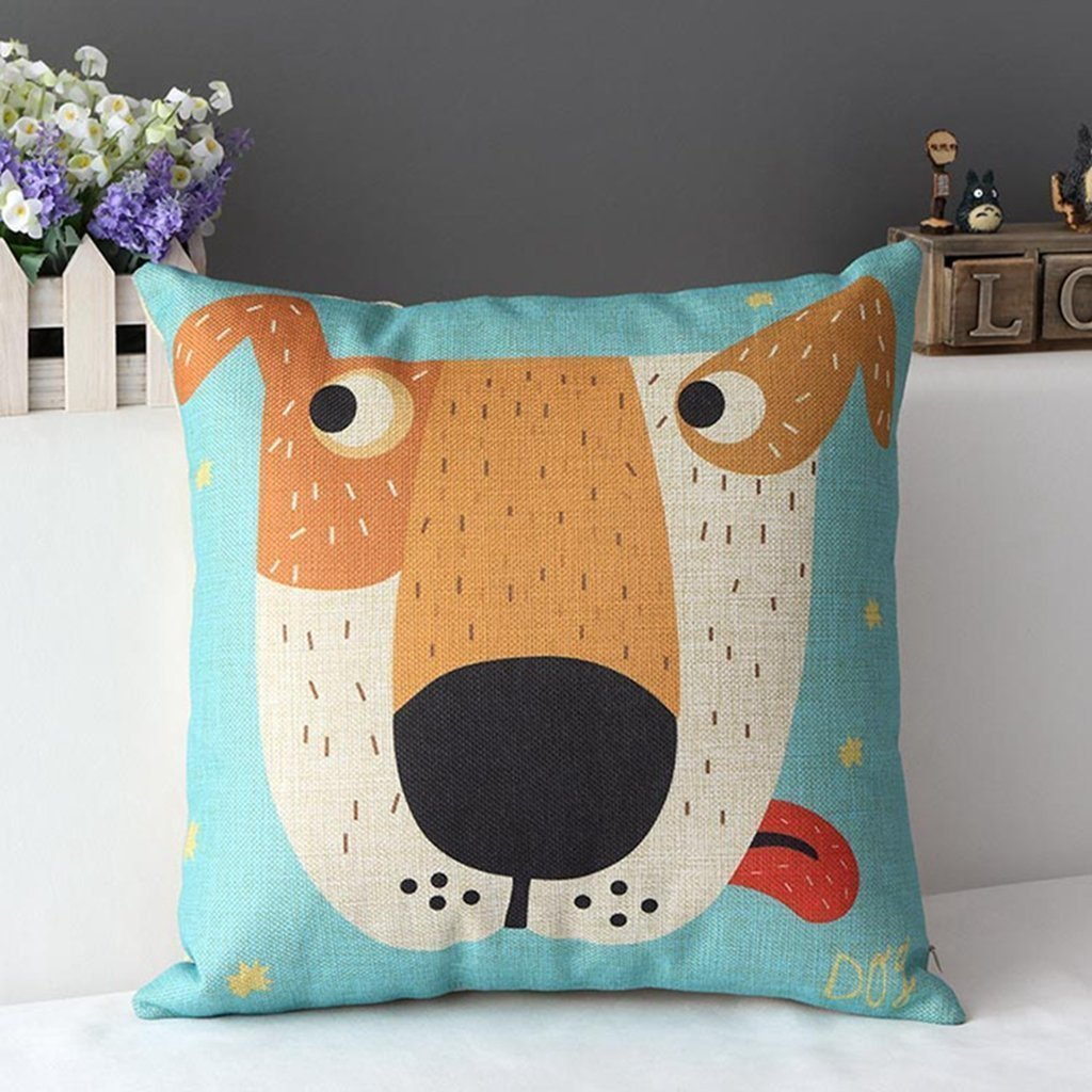duoleu0027s big dog cartoon sofa pillows for indoors