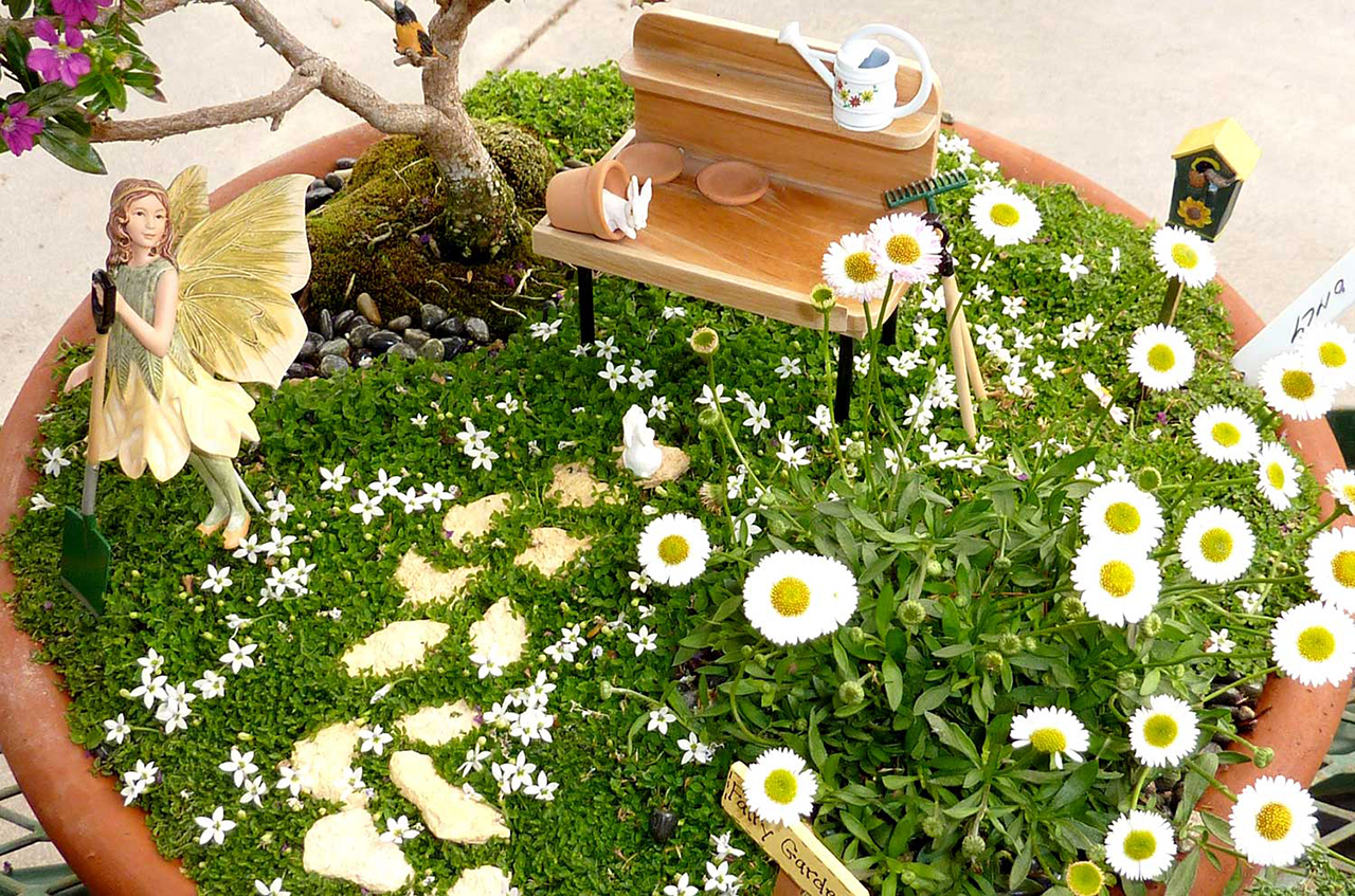 Miniature Fairy Garden Ideas miniature fairy gardens or enchanted gardens are a fun and creative way to add whimsical container 17 Spring Time Blossoms