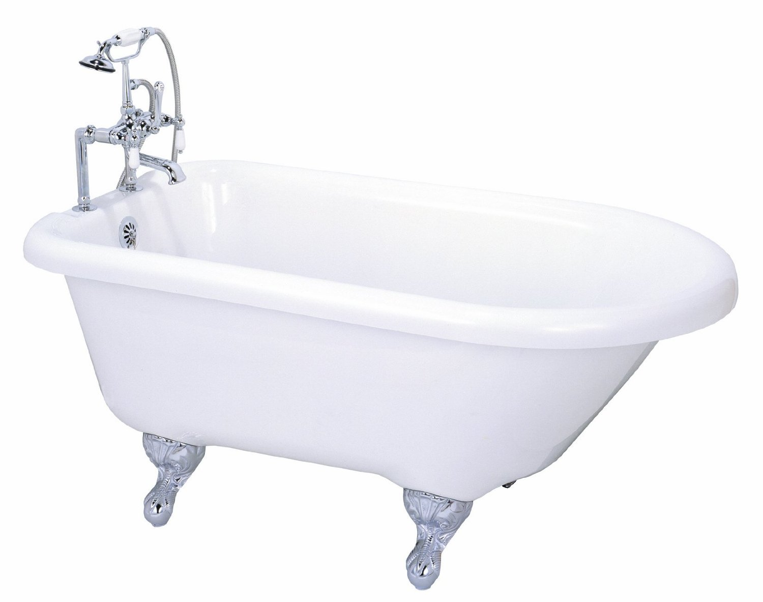 55u2033 Roll Top Clawfoot Tub From Elizabethan Classics. Small Bathtub Ideas