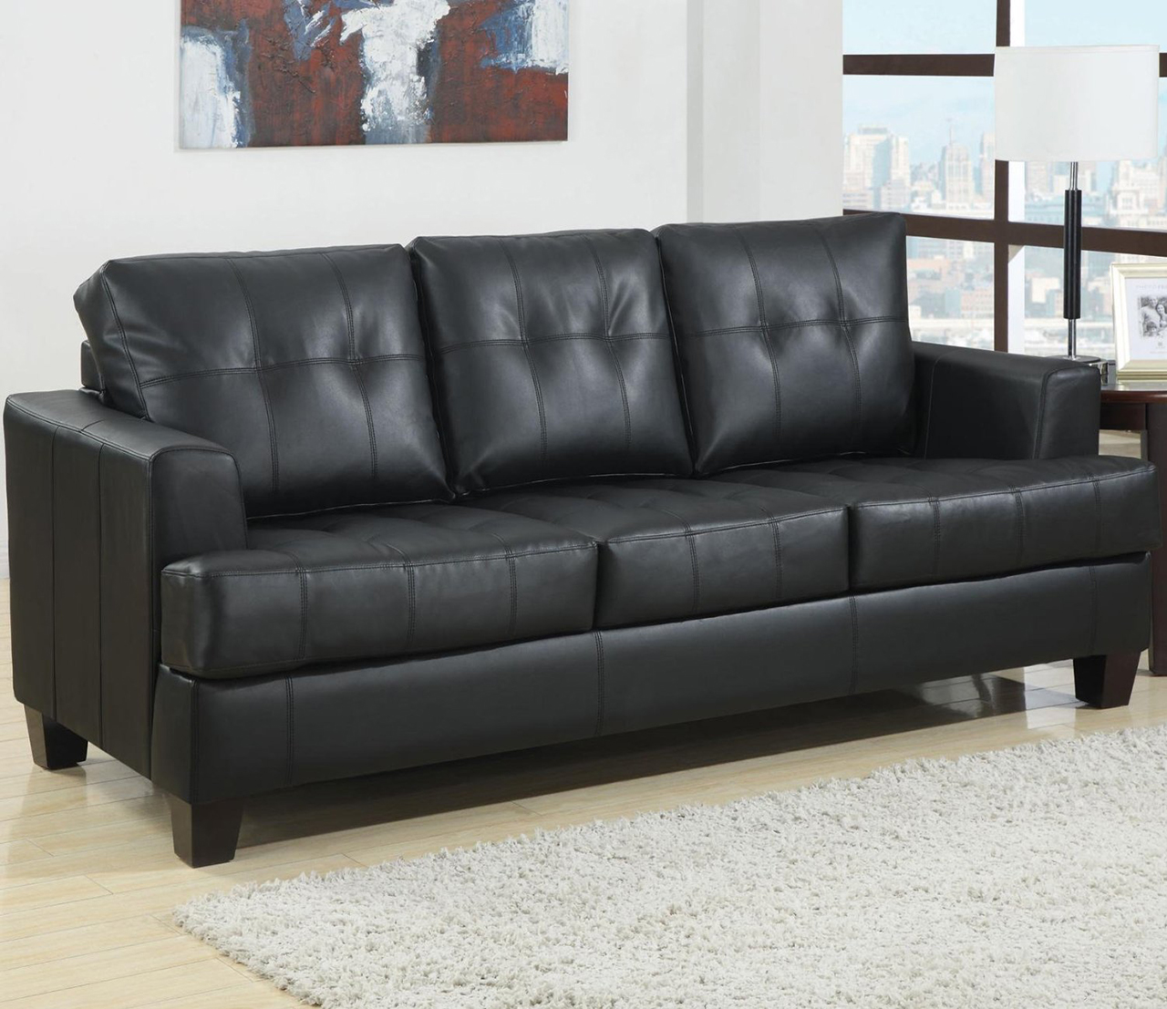 Sleeper Sofa   Coaster Home Furnishings Contemporary Sleeper, Black