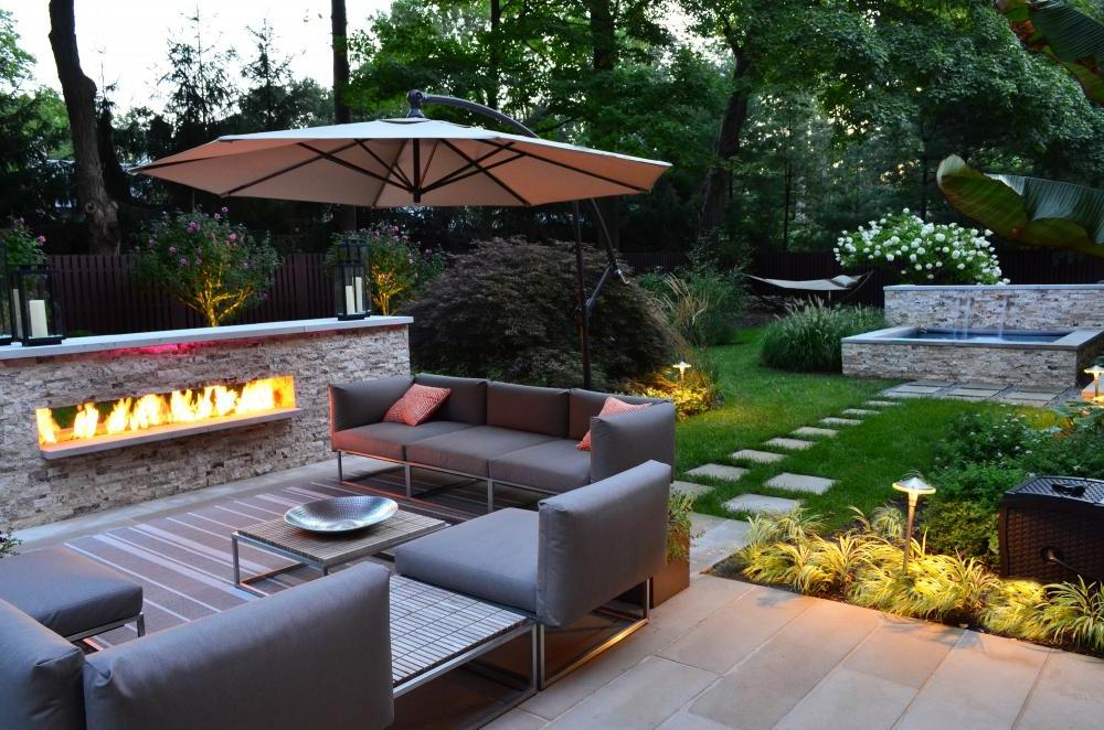 A True Outdoor Fireplace