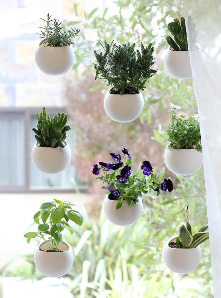 Vertical Gardening Ideas grid wall An Ultra Modern Vertical Garden Idea
