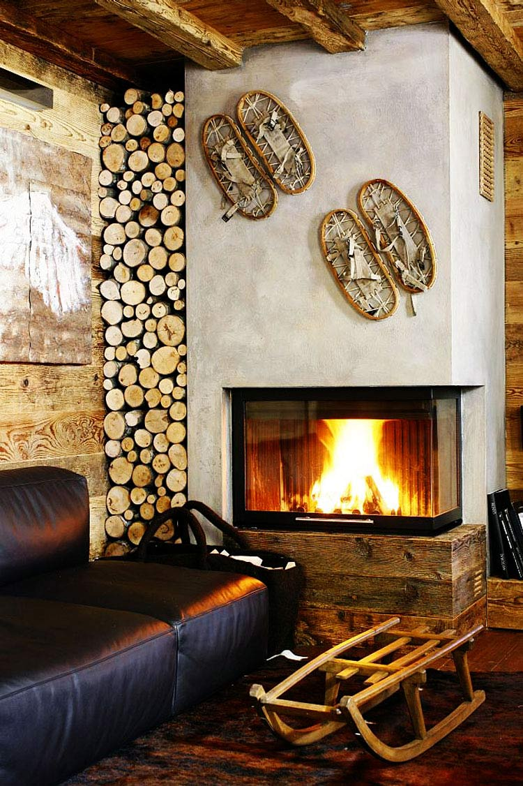 50 best modern fireplace designs and ideas for 2018 for Log cabin fireplace designs