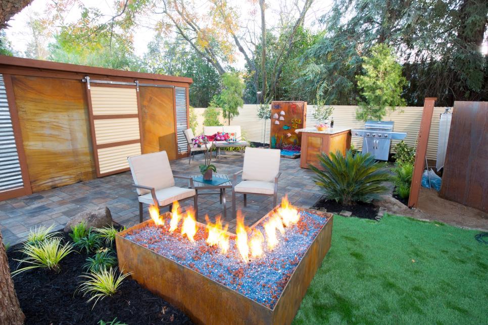 50 best outdoor fire pit design ideas for 2017 L shaped garden designs images