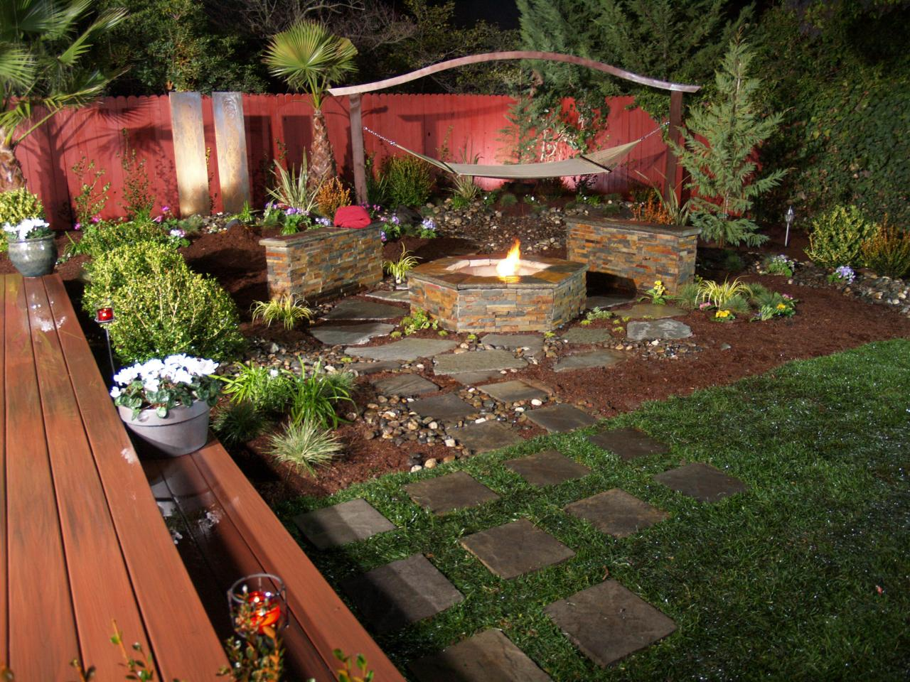 tucked away in the garden source diynetworkcom this creative firepit design - Outdoor Fire Pit Design Ideas