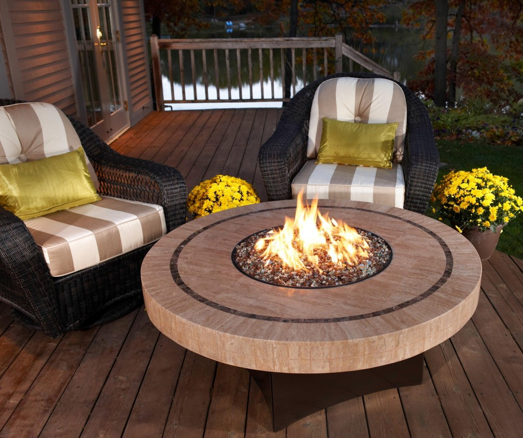 Fire Table on the Deck