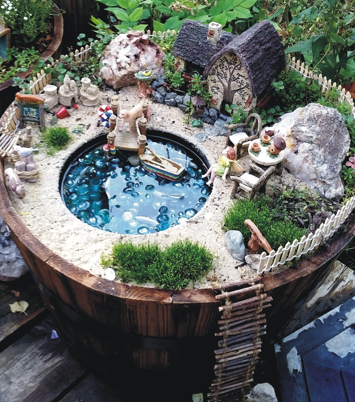 The 50 best diy miniature fairy garden ideas in 2017 for Garden pond ideas pinterest