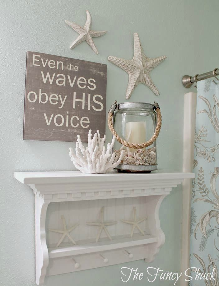 25 best nautical bathroom ideas and designs for 2017 for Kitchen colors with white cabinets with star of david candle holder