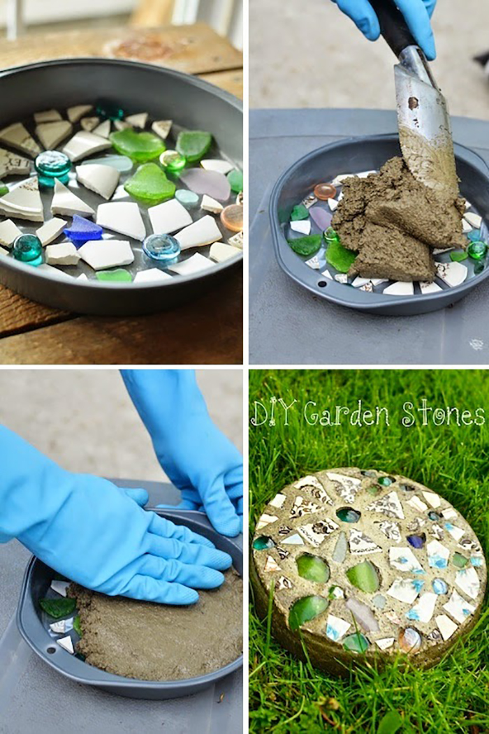 30 best decorative stepping stones ideas and designs 2018 for Stepping stone designs garden
