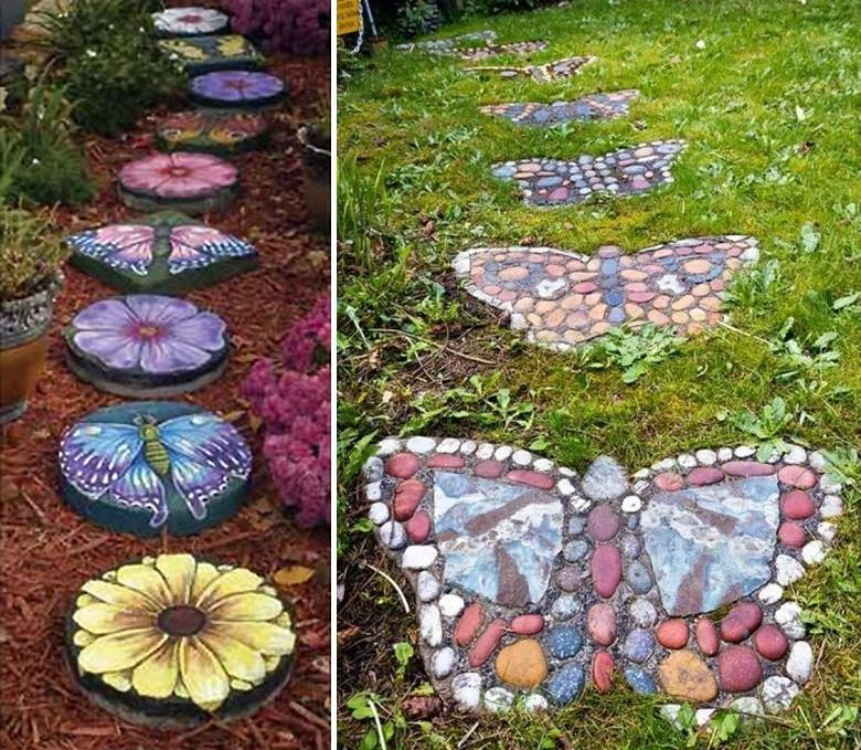 Garden Stepping Stones Ideas project ideas personalized garden stepping stones brilliant personalized gardening and outdoor gifts from personal creations Butterflies In The Garden Stepping Stones