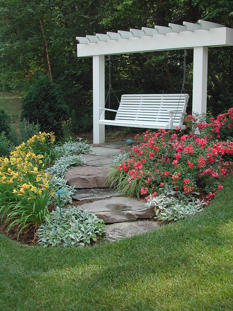 Landscaping Ideas For Backyard 8. Just Swinging in the Garden