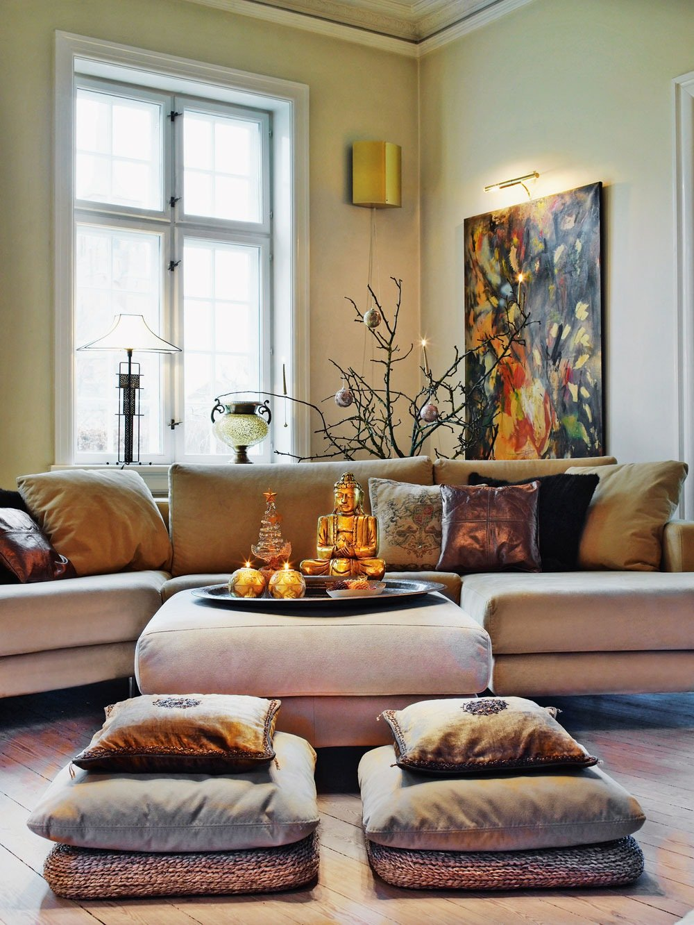 Asian-Inspired Living Room