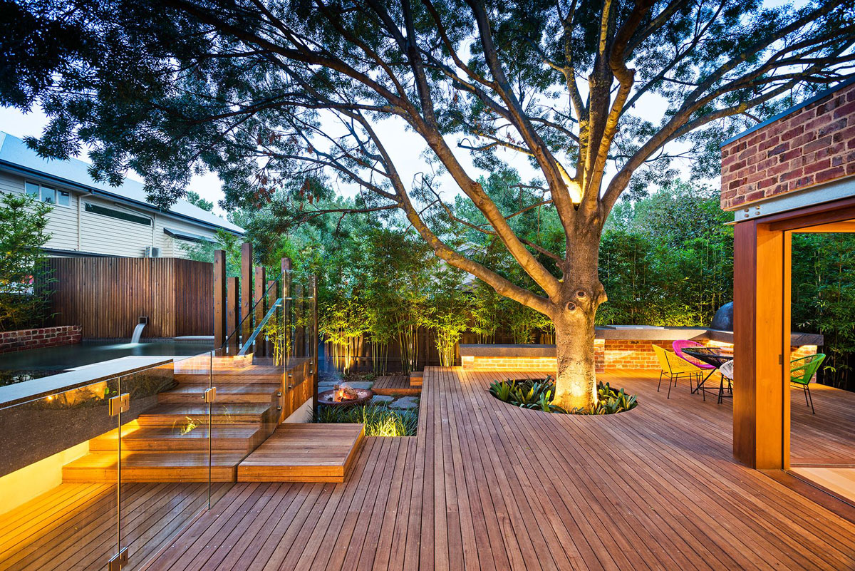 11 keeping the tree - Backyard Design Ideas