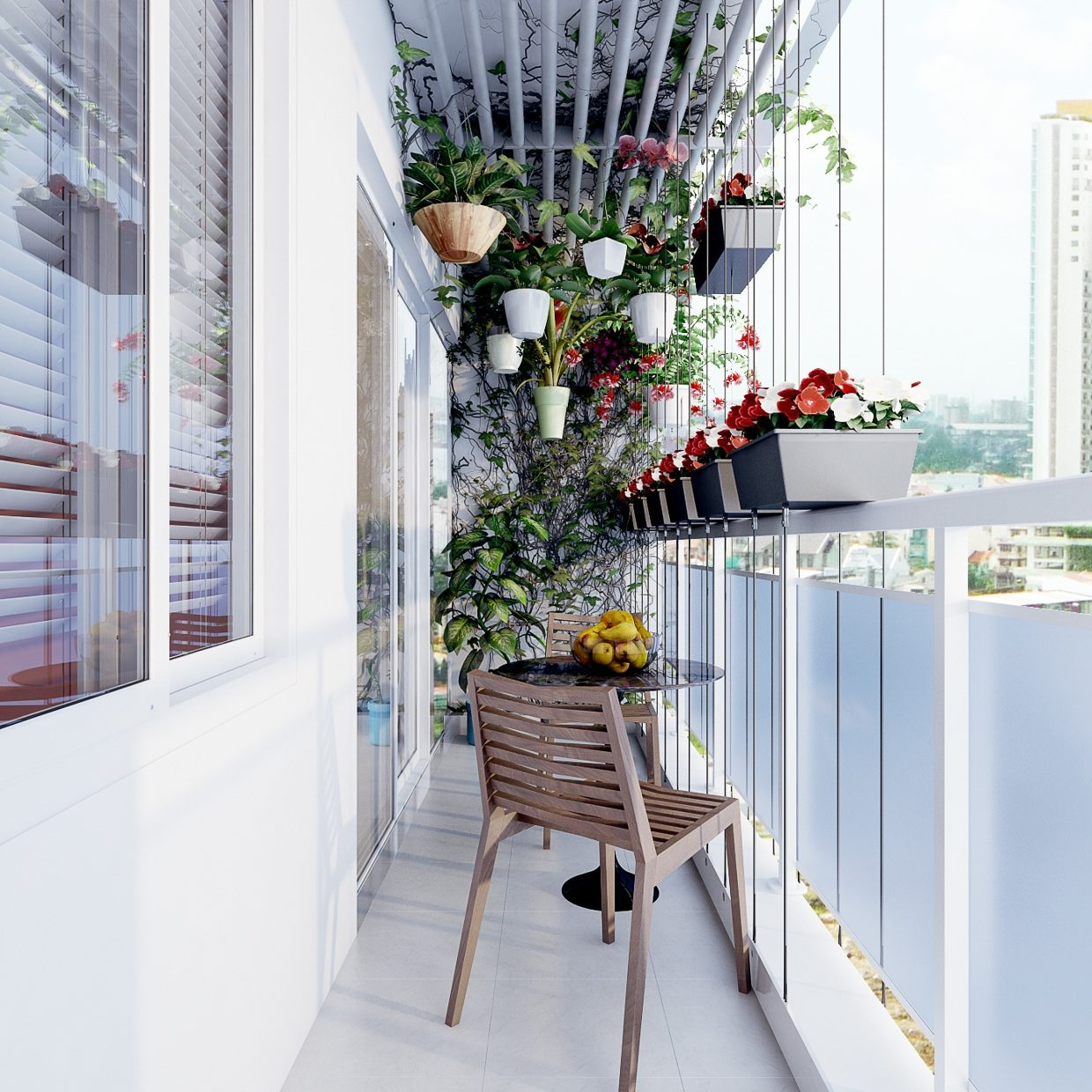 Balcony Garden Design balcony privacy 4 634x479 15 stunning roof top balcony garden design that will surprise you The Hanging Garden