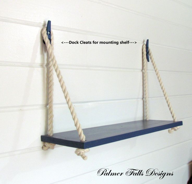 Nautical Floating Shelf For Storage And Decor Nautical Bathroom