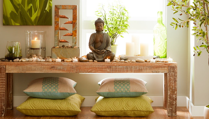 50 best meditation room ideas that will improve your life for Buddha decorations for the home uk