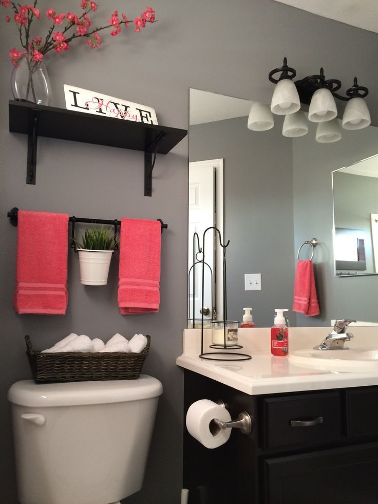 Color Accent Ideas For A Small Bathroom