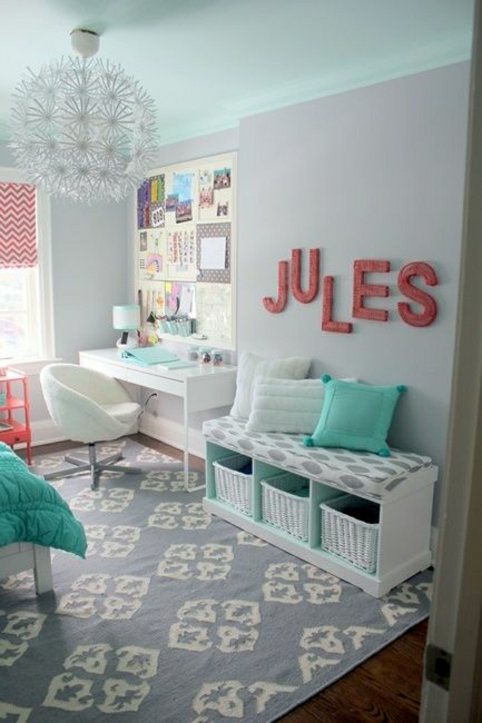 superb Room Ideas For Teen Girls Part - 4: 9. Coordinate Colors