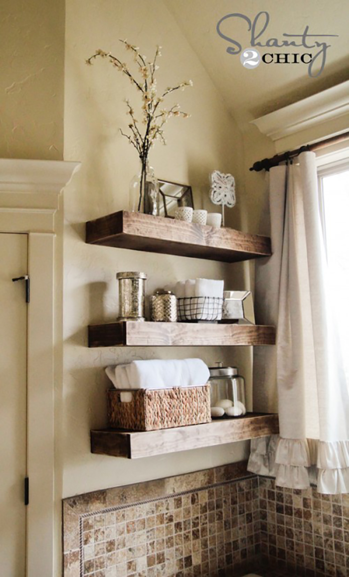 Earth Tone Re Purposed Wood Shelves Homebnc