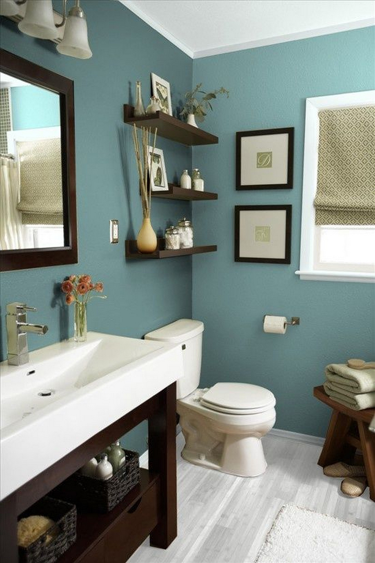Home decorating ideas bathroom - 13 Chic And Calming Blue Design Theme
