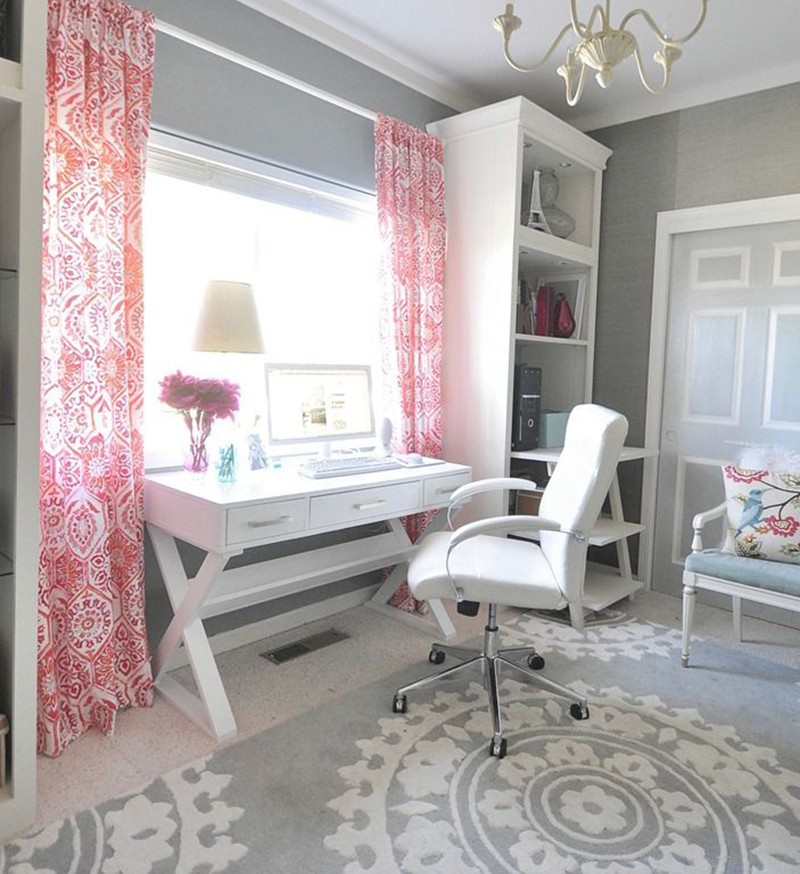 Wonderful Room Design Ideas For Teenage Girl Part - 7: 13. Office Space
