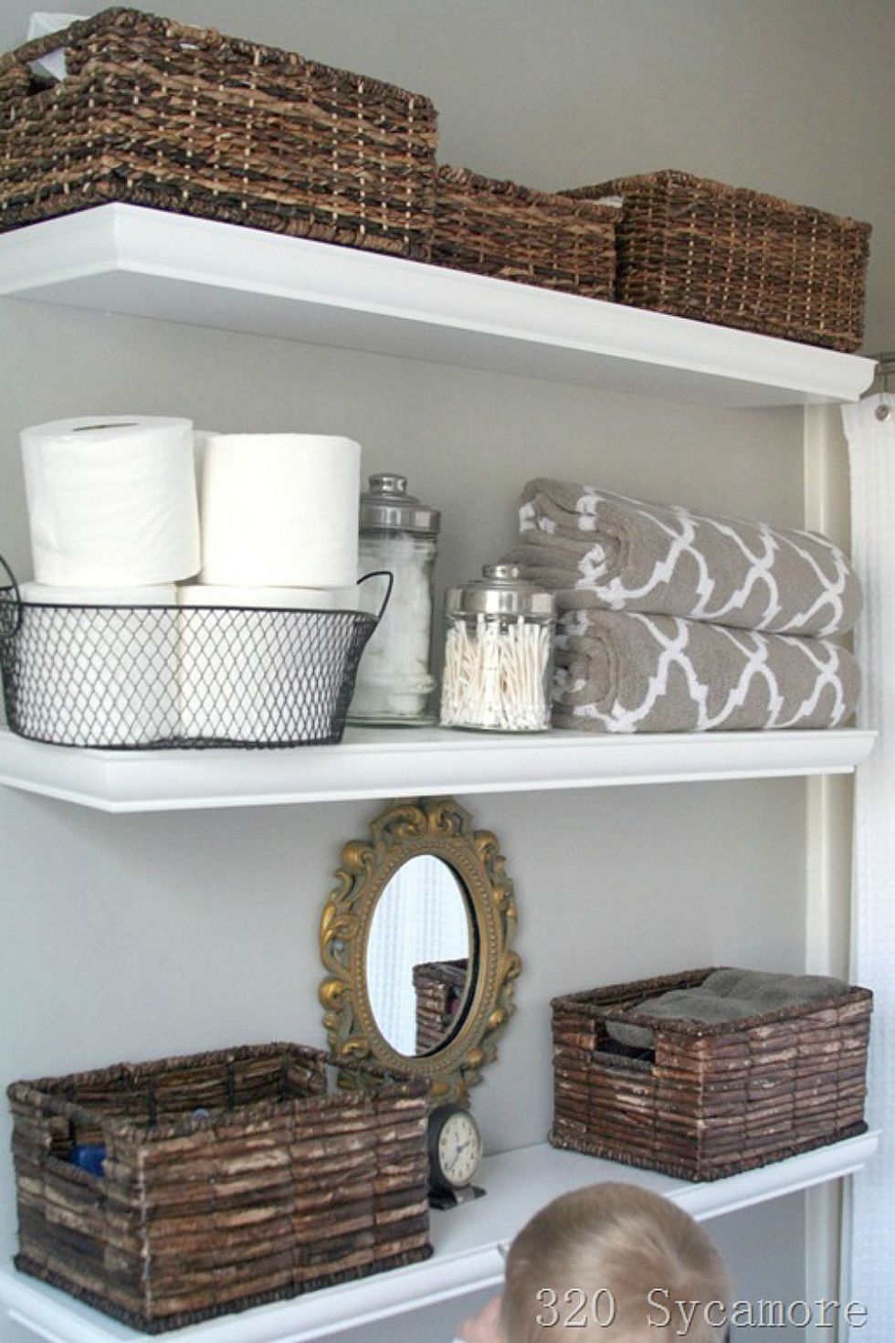 30 best bathroom storage ideas and designs for 2017 - Floating shelf ideas for bathroom ...