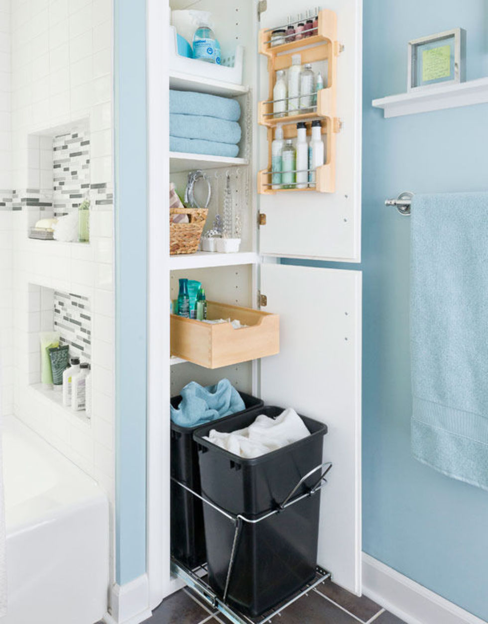 30 best bathroom storage ideas and designs for 2016 for Bathroom closet storage ideas