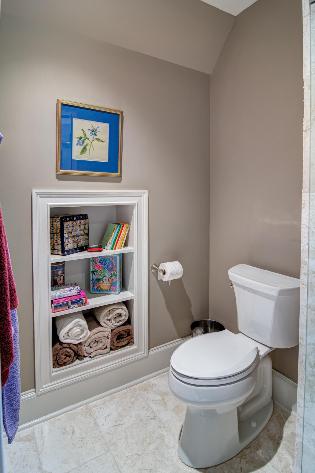 Built in bathroom wall storage - Built In Storage Bathroom Storage Ideas