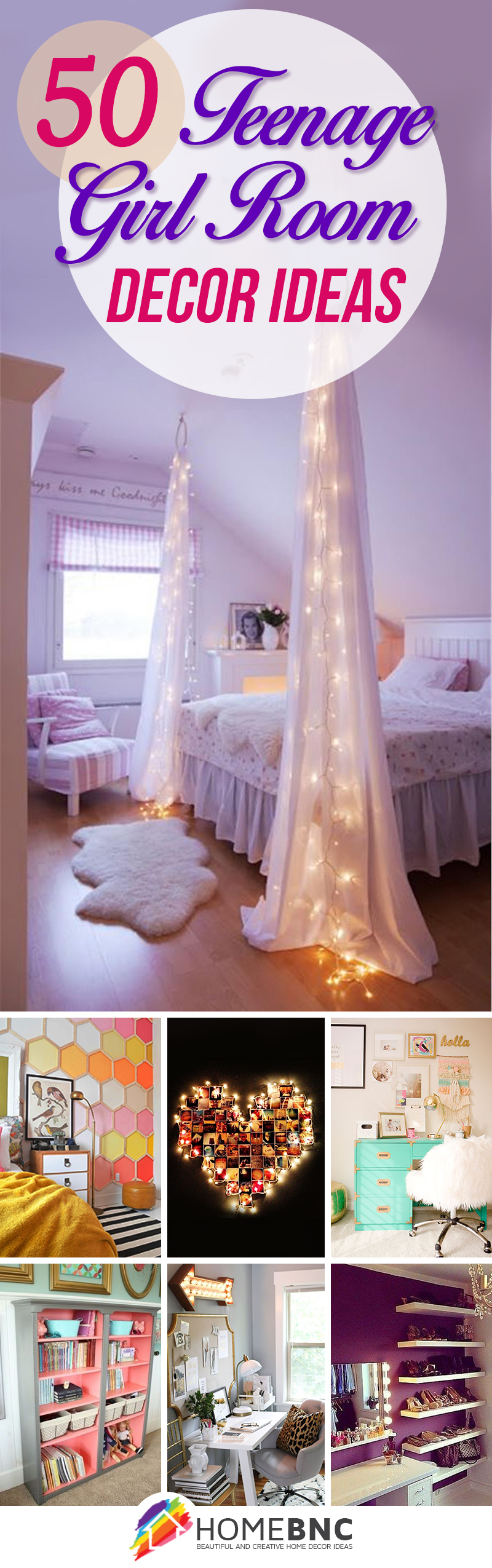 50 Stunning Ideas for a Teen Girl\'s Bedroom for 2019