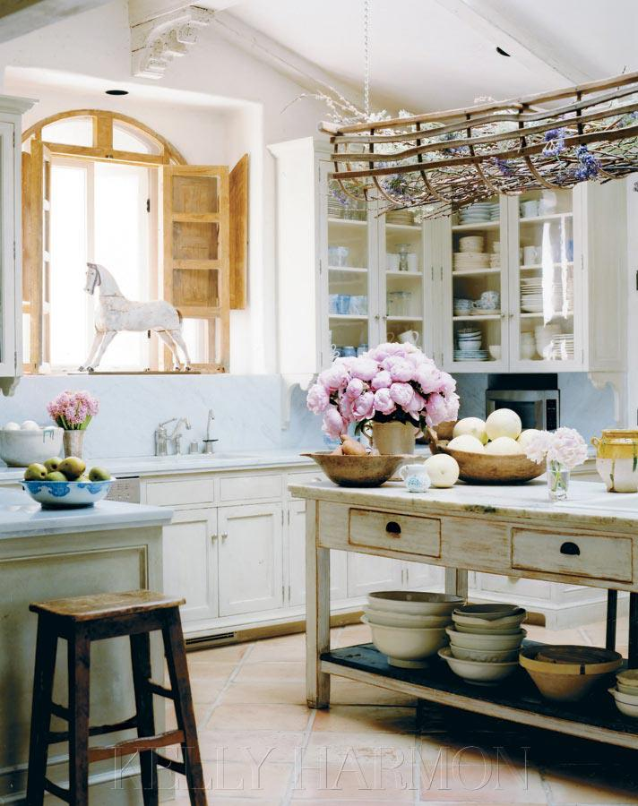 Rustic Cottage Kitchen Ideas Part - 49: All White Is All Right With Rustic Natural Accents