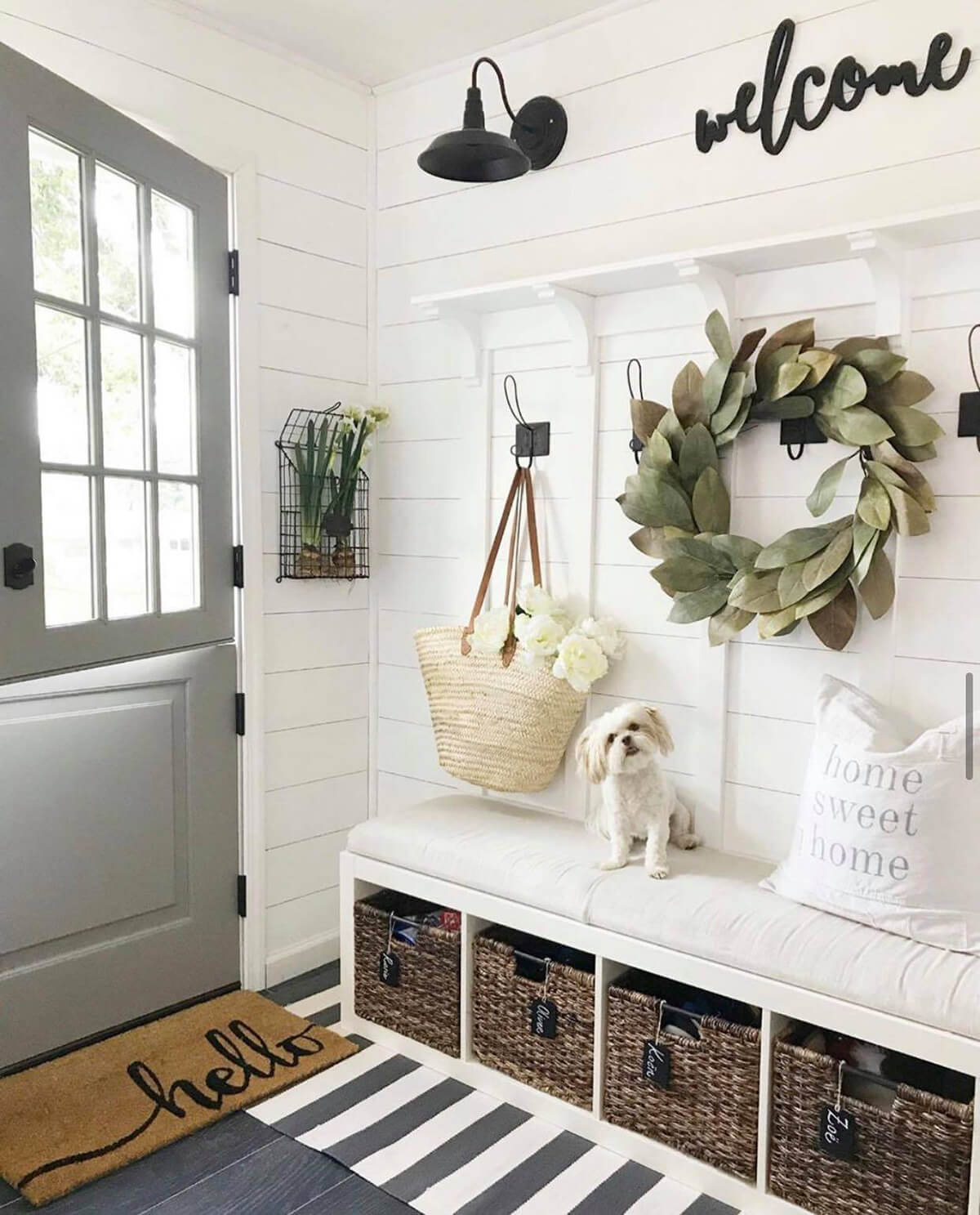 Sit Down Storage for a Cozy Entryway