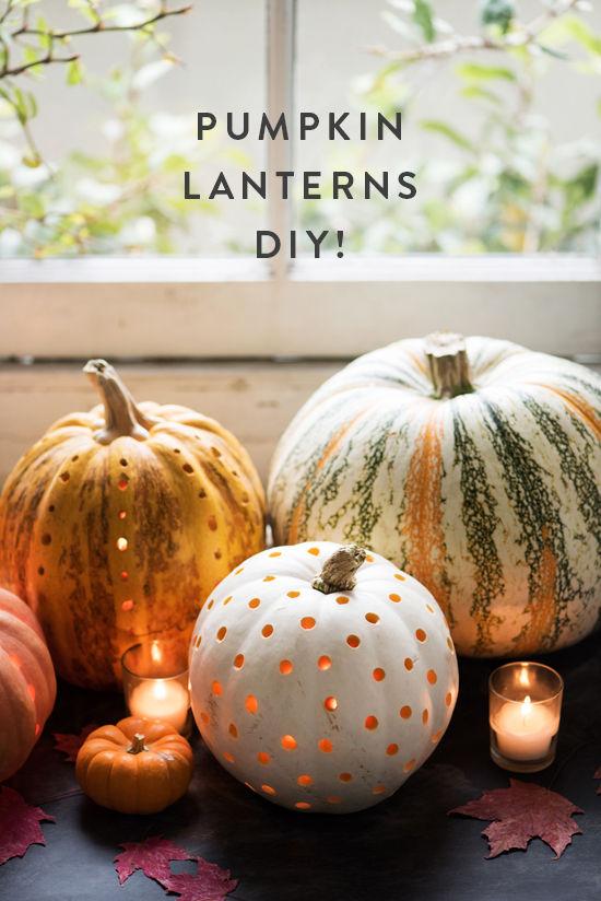 punch a hole pumpkin - Pumpkin Decoration