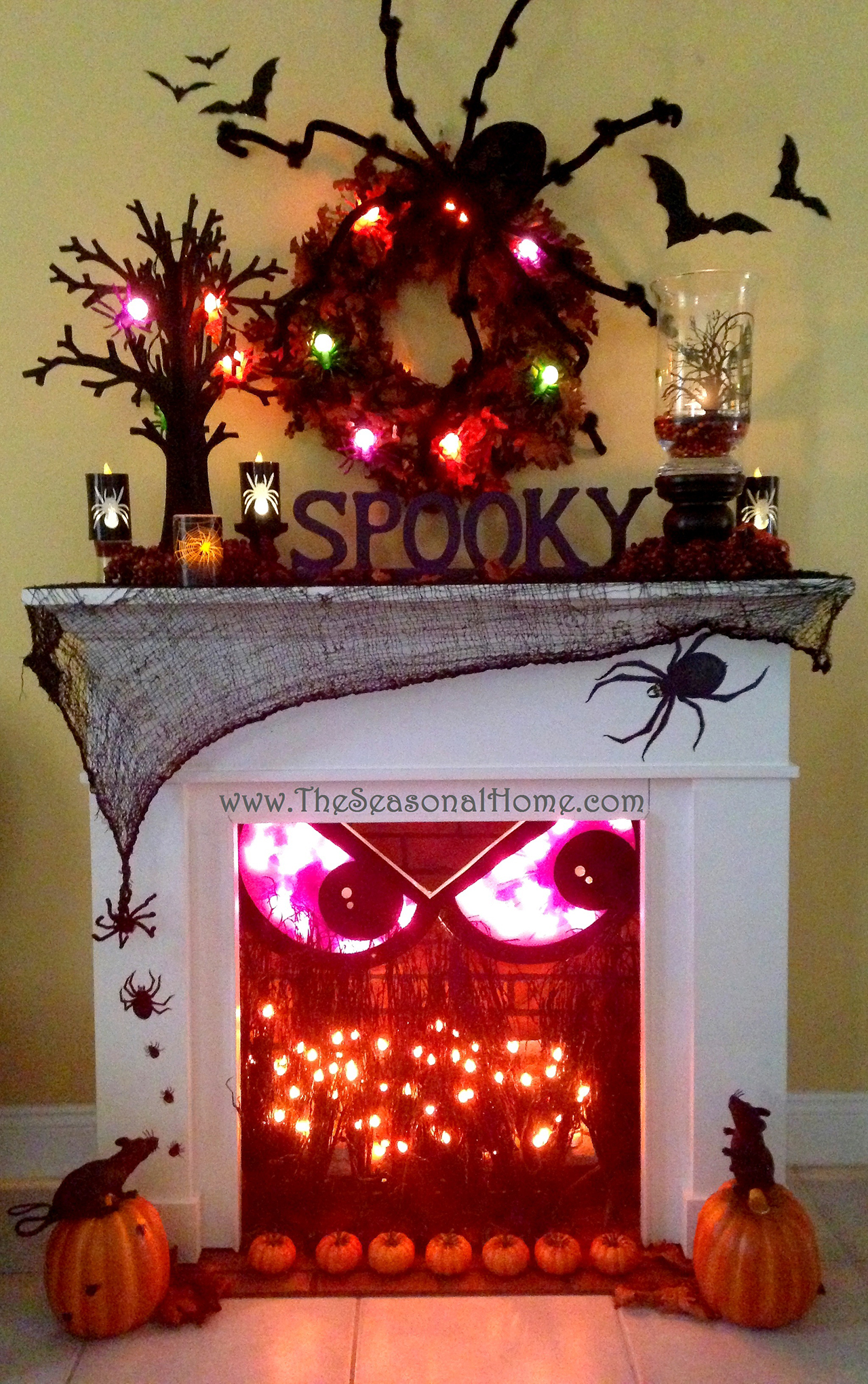 1 spooky fireplace crackles with fun