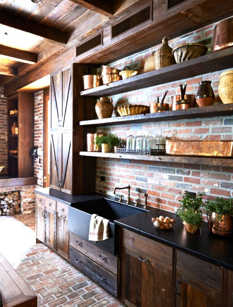 show off the strength of rich woodwork - Country Kitchen Ideas