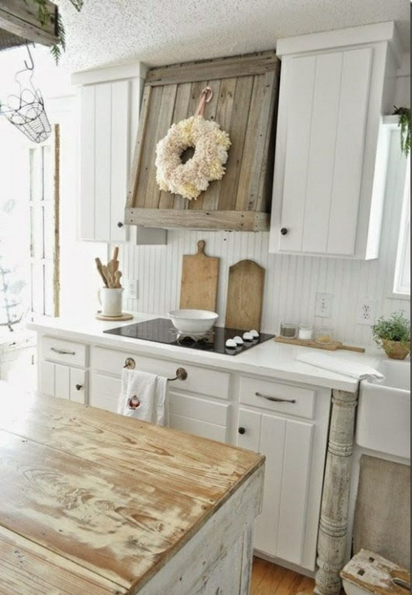 Nice Interior Design Country Kitchen kche traditional white country kitchen 15 cool interior design ideas 3 Weathered Wood Sets Off Classic Clapboard