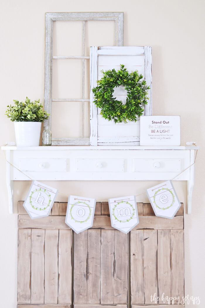 Repurposed Outdoor Fireplace Mantle