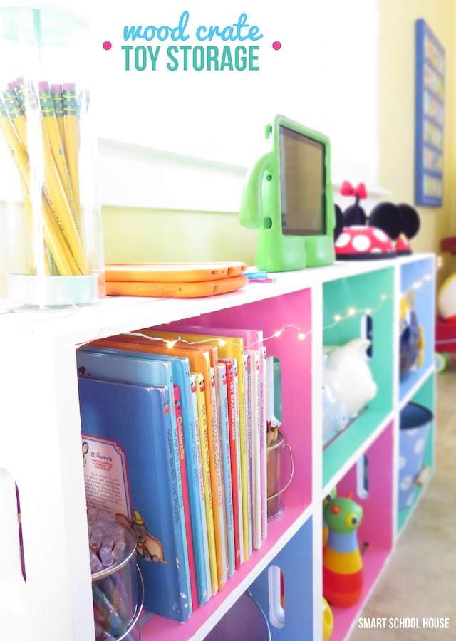 26 best diy wood crate projects and ideas for 2018 decorative storage for a childs room decorative storage for a childs room diy project solutioingenieria Image collections
