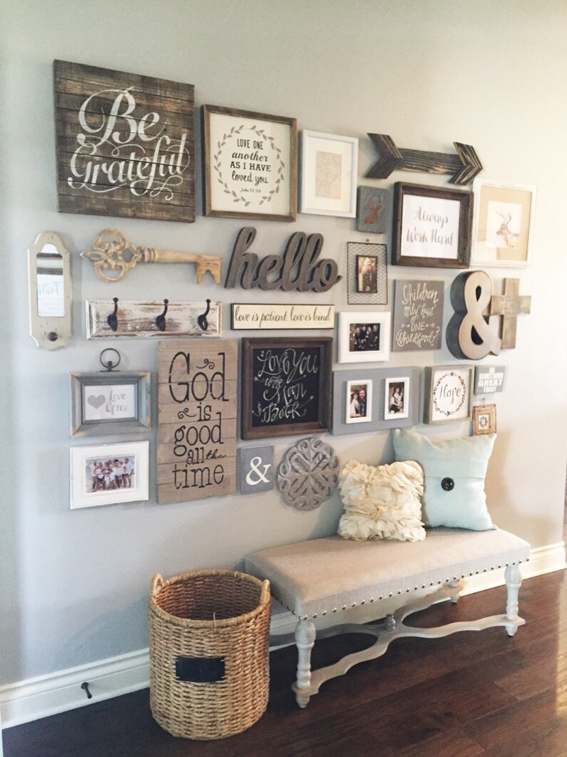 Rustic Hallway Wall Decor : Best rustic entryway decorating ideas and designs for