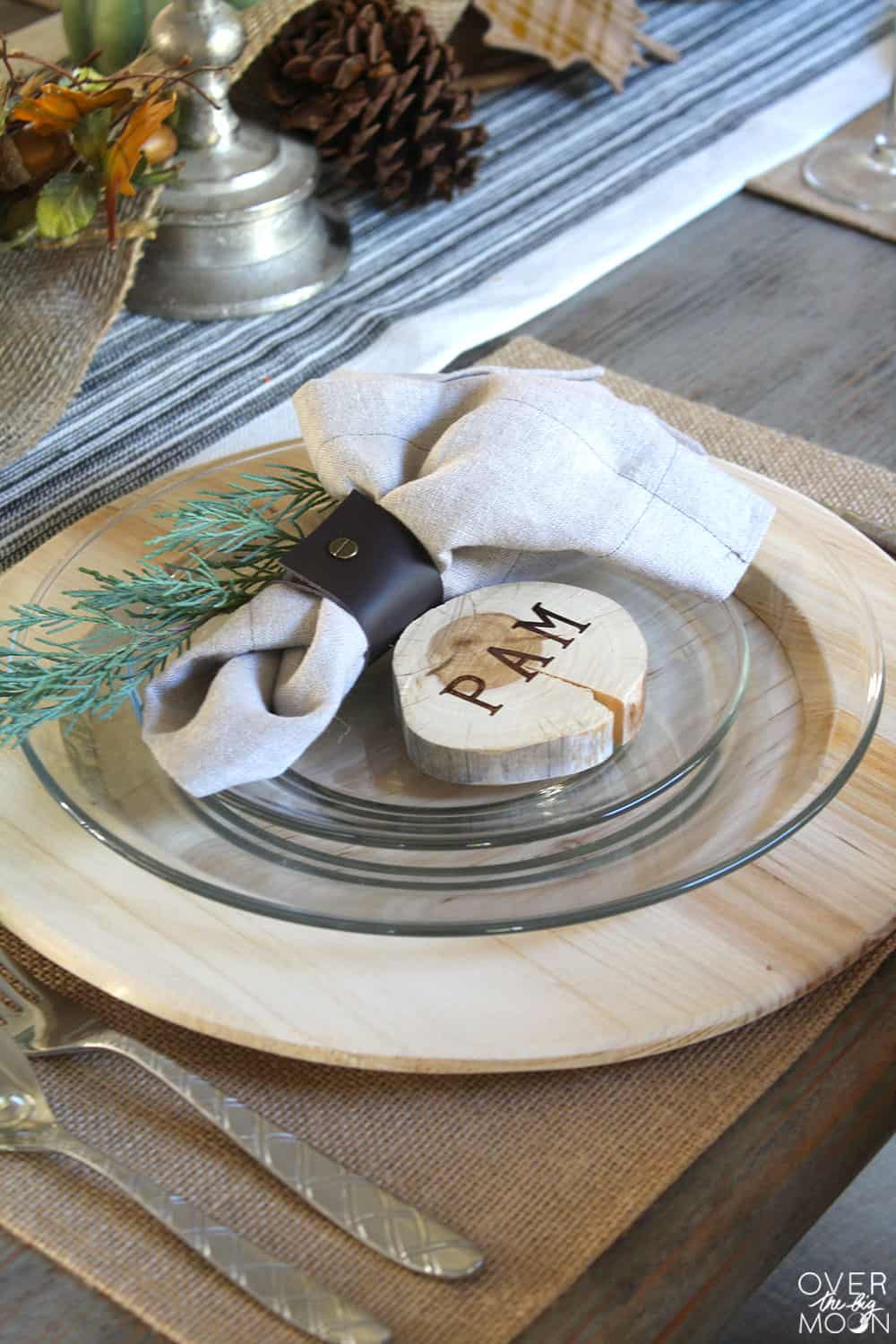 Personalized Place Marker And Napkin Ring Homebnc