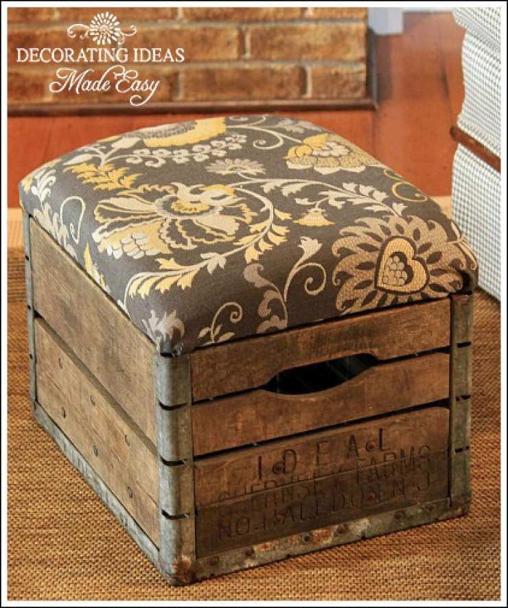 26 best diy wood crate projects and ideas for 2017 for Diy wooden crate ideas