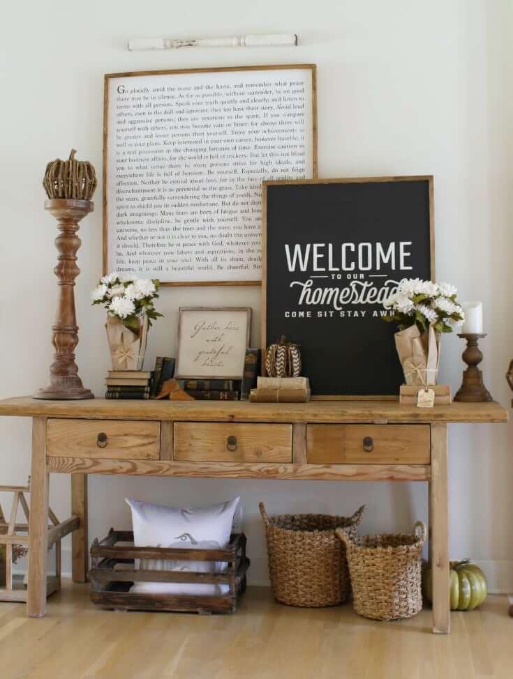 Rustic Farm Homestead Welcome Entryway